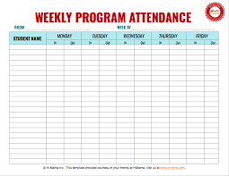 Attendance Chart Online Daycare Sign In Sheet Attendance Sheet Templates Himama