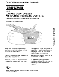 craftsman 1395398511 user manual garage door opener manuals and guides l0403216