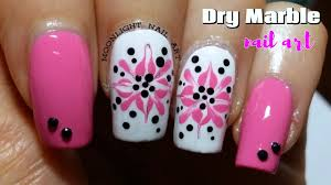 Easy Drag Dry Marble Nails - Toothpick & Dotting Tool Nail Art ...