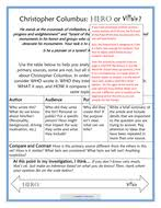 age of exploration part primary source analysis christopher   christopher columbus hero or villain teacher packet pdf