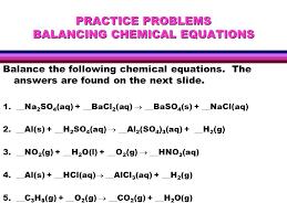 homework help balancing chemical equations mistake