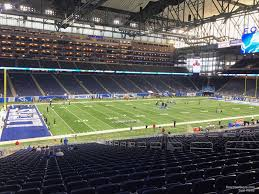 Detroit Lions Seating Chart With Seat Numbers Ford Field Section 123 Detroit Lions Rateyourseats Com