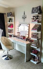 this is a cute vanity i don t need all the makeup though just my hair care s and polish dream house room decor vanity room glam room