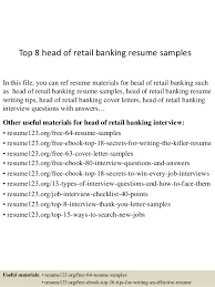 bank sample resume top 8 head of retail banking resume samples 1 638 jpg cb 1433154084
