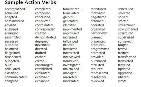 Teaching Action Verbs Resume - Lawteched inside Teacher Resume Verbs