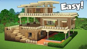 Big Minecraft House Designs Minecraft How To Build A Large Starter House Tutorial 2