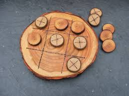 Wooden Naughts And Crosses Game Natural Rustic Wooden Tic Tac Toe or Noughts and Crosses Game 50