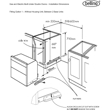 Belling built under electric double oven bi70fp ao and cooker wiring diagram to