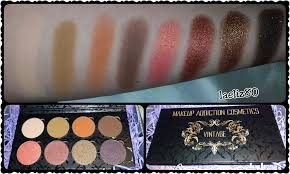 vine palette makeup addiction cosmetics swatches e review