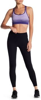 Bally Total Fitness Lace Back Tight Ankle Leggings Active