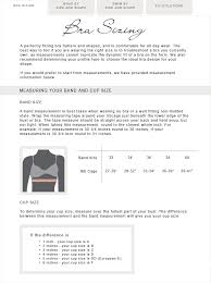 Size And Fit Guide Bra Sizing Nancy Meyer