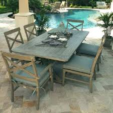 faux wood outdoor dining table dining by bryant faux wood rectangular patio dining table