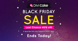 divi cake black friday image