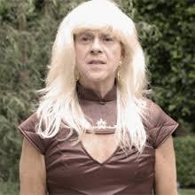 richard simmons woman. to celebrate the emmys, richard simmons cosplayed as daenerys targaryen - frisky woman