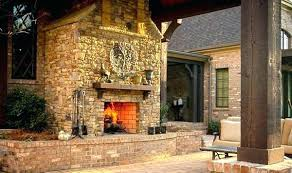 gas starter fireplace outdoor stone wood burning pipe installation