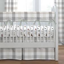 painted zoo crib bedding gray and taupe buffalo check crib bedding