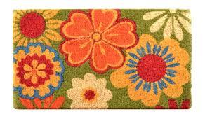 Red Barrel Studio Fenner Summer Flower Coir Doormat & Reviews ...
