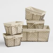 baskets  decorative storage  wicker weave baskets  world market