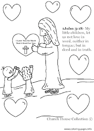 Love Your Neighbor Coloring Page Hello Pages Printable For Kids
