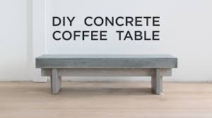 diy coffee table with a concrete top