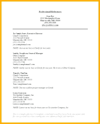 Job Search Reference List Format Resume References Template