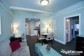 The Spacious Two Bedroom Suite Includes A Separate Living Space And Kitchen