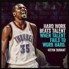 Kevin Durant Quotes Classy Hard Work Beats Talent When Talent Fails To Work Hard Kevin