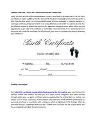 Make A Fake Birth Certificate Canada Online At The Lowest Price By