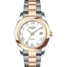 rotary gb00152 01 mens watch watches2u rotary gb00152 01 mens timepieces rose and silver automatic watch