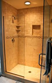 Natural stone walk in shower traditional-bathroom