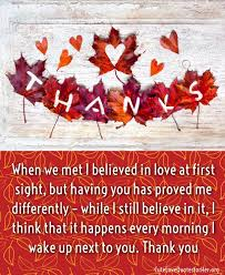 Beautiful Happy Thanksgiving Quotes Best of Thanksgiving Love Quotes For Her Thank You Sayings Part 24