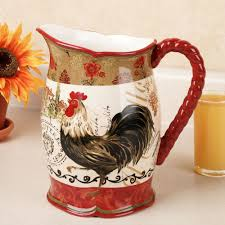Tuscan Sunflower Kitchen Decor Rooster Kitchen Collection Touch Of Class