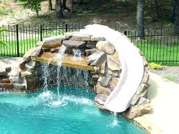 backyard pool with slides. Pool Slide Paint Natural Attractions S R Smith Swimming  Parts . Backyard With Slides N