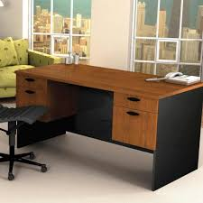 cheap home office. Furniture: Vintage Wooden Cheap Home Office Computer Desk Furniture Design With Keyboard Tray And Storage