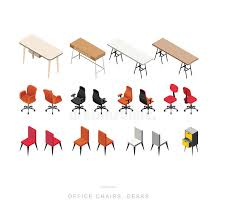 isometric office furniture vector collection. Download ISOMETRIC OFFICE CHAIRS And DESKS Stock Vector - Illustration Of Chairs, Empty: 73711956 Isometric Office Furniture Collection U