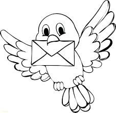 Cartoon Coloring Bird New Coloring Pages Cartoon Birds Beautiful