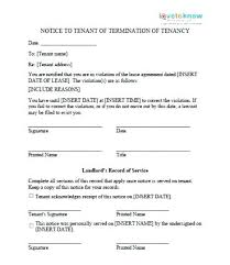 notice of violation template printable sample eviction notice template form example lease