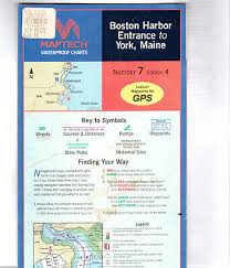 Maptech Waterproof Charts Maine Maptech Waterproof Chart Number 7 Edition 4 Boston Harbor Entrance To York Maine Ebay