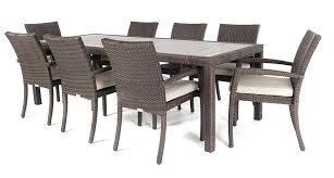 outdoor dining sets for 8. Modern Outdoor Dining Furniture Rectangular Synthetic Wood Top Table For 8 To Sets