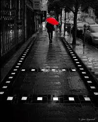 on black and white with a splash of red wall art with red umbrella art black and white color 16x20 red umbrella