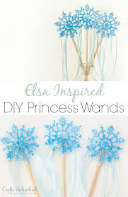 supplies needed to make your own elsa inspired diy wand