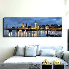 panoramic wall art beautiful looking canvas metal framed acrylic for vibrant id