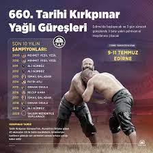 660. Tarihi Kırkpınar Yağlı Güreşleri başlıyor