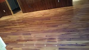 2 1 4 hickory is a better choice wide plank because of the movement