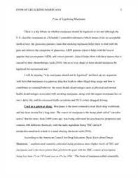 anti marijuana legalization essay essay should marijuana be legalized arguments for and against