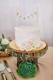 Small Wedding Cake Succulent Wedding Cake Wooden Cake Stand