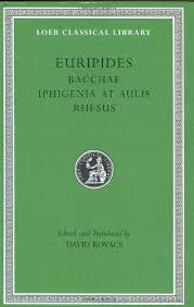 Amazon Rhesus Chart Euripides Bacchae Iphigenia At Aulis Rhesus Loeb