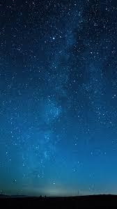 Night Sky Stars Horizon 4K Wallpaper #25