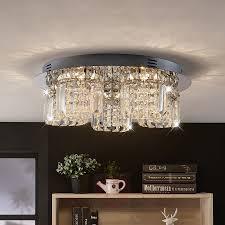 Tafellamp Led Kristallen Plafondlamp Shari Lampen Dimb Lampen24 Nl