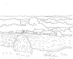 43+ Tranh tô màu cánh đồng lúa cho bé tập tô